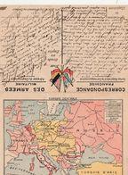 Franchise Militaire FM / Carte Non Utilisée / Carte Comparaison Ambitions Allemandes Contre  Alliés - 1914-18
