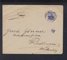 Besetzung Rumänien Romania Brief 1918 Bukarest Nach Riedlingen - Besetzungen 1914-18