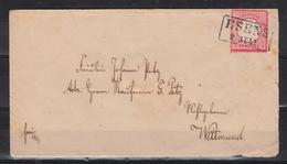 Duitse Rijk 1872 Met Mi Nr 19 Brief, Verzegeld Met Lak - Brieven En Documenten
