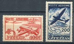 213 FEZZAN 1948 - Yvert A 4/5 - Avion - Neuf ** (MNH) Sans Trace De Charniere - Fezzan (1943-1951)