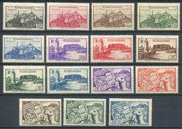 213 FEZZAN GHADAMES 1946 - Yvert 28/42 - Fort Mosquee Carte - Neuf ** (MNH) Sans Trace De Charniere - Fezzan (1943-1951)