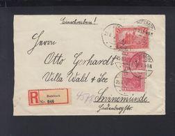 Dt. Reich R-Brief 1921 Butzbach Nach Swinemünde - Briefe U. Dokumente