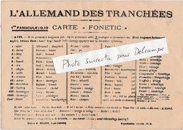 Carte Postale Militaire FM / Non Circulé / Allemand Des Tranchées / Phonétique - 1914-18