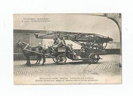 """Antwerpen - Brandweer. Mekanische Ladder """"Magirus"""" Werkende Met Koolzuur. - Antwerpen"""