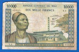 Mali  10.000 Fr   Dans  L'etat - Mali