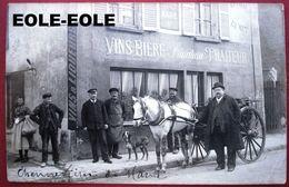 94 - Carte Photo - CHENNEVIERES SUR MARNE - Cafe - PRINCITEAU - Restaurant - Traiteur - Marchand - Devanture - Attelage - Chennevieres Sur Marne