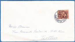 Cover - Santiago Do Cacém To S. Teotónio, Portugal // Cancel - Santiago Do Cacém . 1965 - 1910-... República