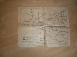 Old Map, Hand-drawn  Kaiserliche Im Jahre 1690  Turken Karlovitz 1697 - Geographical Maps