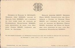69 VILLEFRANCHE-sur-SAÔNE Et 44 NANTES - Faire-Part De Mariage Entre Pierre BIGOT Et Marie-Louise BESSON - 7 Avril 1926 - Wedding