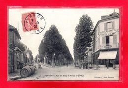 27-CPA VERNON - RUE DE BIZY ET ROUTE D'EVREUX - Vernon