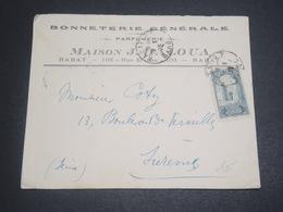 MAROC - Enveloppe Commerciale De Rabat Pour La France En 1923 - L 11980 - Marokko (1891-1956)