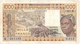 BILLET. BANQUE CENTRALE Des ETATS De L'AFRIQUE De L'OUEST. 1000 FRANCS. - West African States