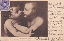 JESUS Y SAN JUAN. LUINI. HAUSER Y MENET-CIRCULEE TO URUGUAY-TBE-BLEUP - Peintures & Tableaux