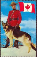 CANADA - Policier - Police Montée Avec Chien - Royal Canadian Mounted Policeman With Dog - Canada
