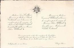 69 VILLEFRANCHE-sur-SAÔNE Et GLEIZE - Faire-Part De Mariage Entre Julien ULLARD Et Clotilde COTAREL - 22 Juillet 1920 - Wedding