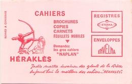 Buvard Héraklès  21 X 14 Cm ( Pliures ) - Stationeries (flat Articles)