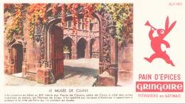 Buvard Gringoire Le Musée De Cluny 16 X 9 Cm ( Pliure ) - Gingerbread