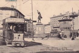 LE PUY - Statue LA FAYETTE Et Vielle Tour Pannessac - Pub Chocolat MAURIN Sur Tramway - Le Puy En Velay
