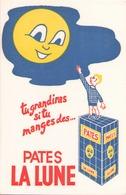 Buvard  Pâtes La Lune 22 X 14 Cm ( Pliure ) - Food