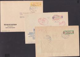 DDR ZKD-Briefe B17J, 27V, 31P Güstrow Merseburg FDGB Karl-Marx-Stadt - [6] República Democrática