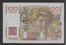 France 100 Francs Jeune Paysan - 6-9-1951 - Fayette N°28-29 - SUP - 1871-1952 Anciens Francs Circulés Au XXème