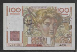 France 100 Francs Jeune Paysan - 6-9-1951 - Fayette N°28-29 - SUP - 1871-1952 Antiguos Francos Circulantes En El XX Siglo