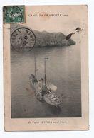 CAMPANA DE MELILLA 1909 - EL VAPO SAVILLA EN EL PENON - Melilla