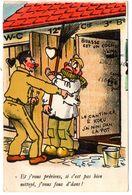 CPSM  FANTAISIE HUMOUR  Militaire La Corvée  Des Toilettes  !!!!!!  11101 - Hommes