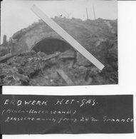1915-1916 Flandres Flandern Boesinghe Het-sas Abri Détruit Près Des écluses 1 Photo Pionier Bat.25 1 Feld Komp - Guerra, Militari