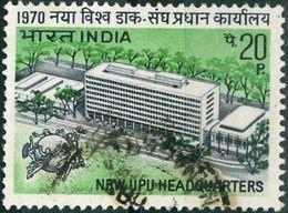 INDIA, COMMEMORATIVO, NUOVA SEDE UPU, 1970, FRANCOBOLLI USATI  Yvert Tellier 298  Scott 514 - Inde