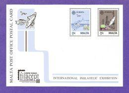 Malta 1988  Mi.Nr. 794 / 795, EUROPA CEPT -Transport- Und Kommunikationsmittel - Ganzsache - Postfrisch / MNH / (**) - Europa-CEPT