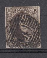 BELGIË - OBP - 1861 - Nr 10/A ? (P 60 - HERVE) - 4 Randen - Postmark Collection