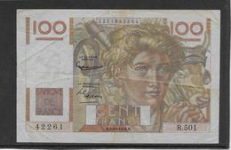 France 100 Francs Jeune Paysan - 2-10-1952 Filigrane Inversé - Fayette N°28bis-1 - TB/TTB - 1871-1952 Anciens Francs Circulés Au XXème