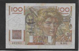 France 100 Francs Jeune Paysan - 2-10-1952 Filigrane Inversé - Fayette N°28bis-1 - TB/TTB - 1871-1952 Circulated During XXth