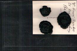 COLLECTION De 3 Cachets De Cire De HENRI BARBET Député De La SEINE INFÉRIEUR - Seals Of Generality