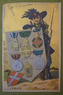 Fonds Or - Pays - Costume - Médailles - ITALIE - Andere