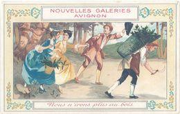 Chromo Nouvelles Galeries Avignon (partition Au Verso), Nous N'irons Plus Au Bois - Autres