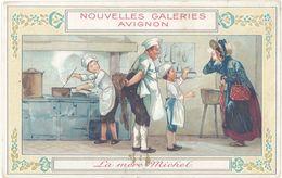 Chromo Nouvelles Galeries Avignon (partition Au Verso), La Mère Michel ( Cuisiniers ) - Autres