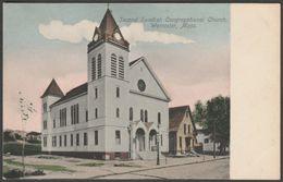 Second Swedish Congregational Church, Worcester, Massachusetts MA, USA, C.1905 - Lundborg U/B Postcard - Worcester