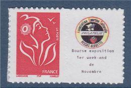 = Timbre Marianne De Lamouche Neuf YT N° 3744A Et Spink N°29 Logo ASCPA (club Philatélique) - Personalized Stamps
