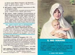 SANTINO PIEGHEVOLE  - IL MIO ROSARIO A GESù PER MARIA - Images Religieuses