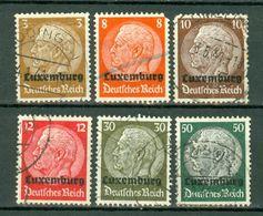 Luxemb. 1940 Yv 1, 5, 6, 7, 11, 13  Used - Tanding Zie Scan, Dentelure Voir Scan - Besetzungen