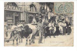 19115 - Auvergne Le Char Des Vendanges - Auvergne Types D'Auvergne
