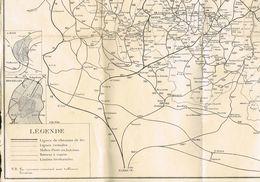 Carte De Ligne De Chemin De Fer Vicinales Malles Poste Ect - Geographische Kaarten