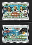 AITITAKI 1994 ALUNISSAGE  YVERT N°550/51  NEUF MNH** - Space