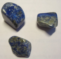 LAPIS LAZULI -  3 Pièces Roulées - 15 Grammes -  15 Euros - Minéraux