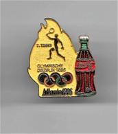 RARE PINS COCA COLA JEUX OLYMPIQUES ATLANTA 1996  N°7 TENNIS OLYMPISCHE DISZIPLIN 1896 / Signé TIM 1992 ACOG  / 33NAT - Coca-Cola