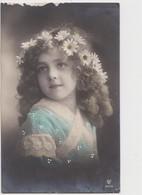 CARTOLINA D'EPOCA CON BAMBINA FORMATO PICCOLO VIAGGIATA ANNO 1914? - Portraits