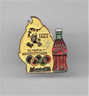 RARE PINS COCA COLA JEUX OLYMPIQUES ATLANTA 1996  MASCOTTE IZZI MASKOTTCHEN / Signé TIM 1992 ACOG  / 33NAT - Coca-Cola