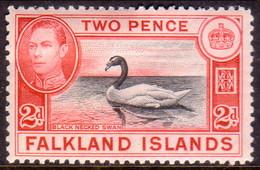 FALKLAND ISLANDS 1941 SG #150 2d MH Black And Carmine-red - Falkland Islands